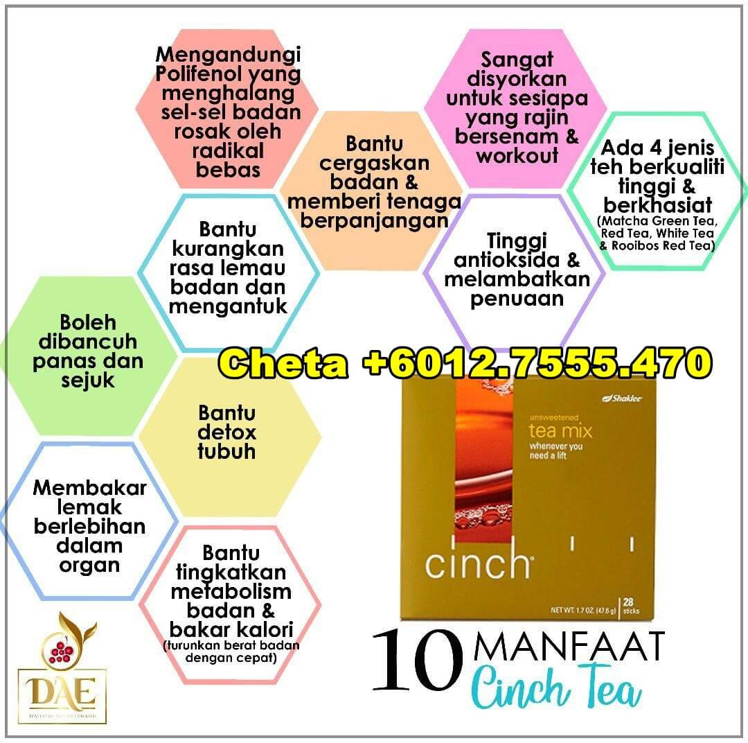 10-Manfaat-Cinch-Tea-Mix-Shaklee-testimoni cinch tea mix