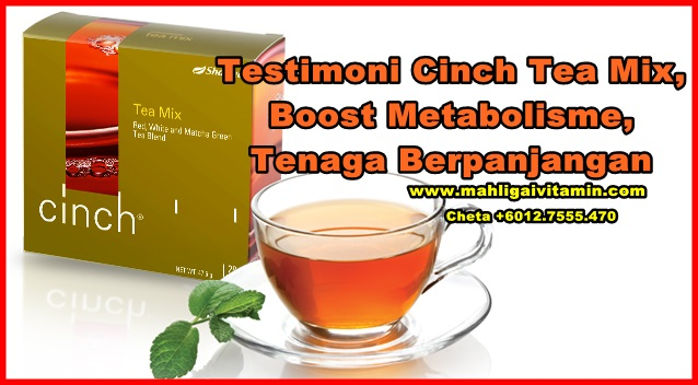 testimoni cinch tea mix shaklee